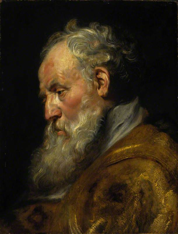 A Study of a Head (Saint Ambrose)