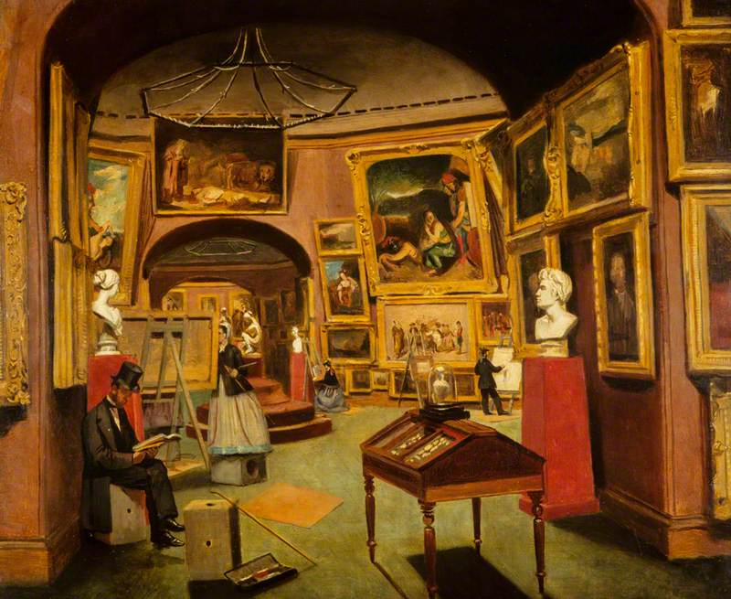 The Interior of the National Gallery of Scotland, c.1867–1877
