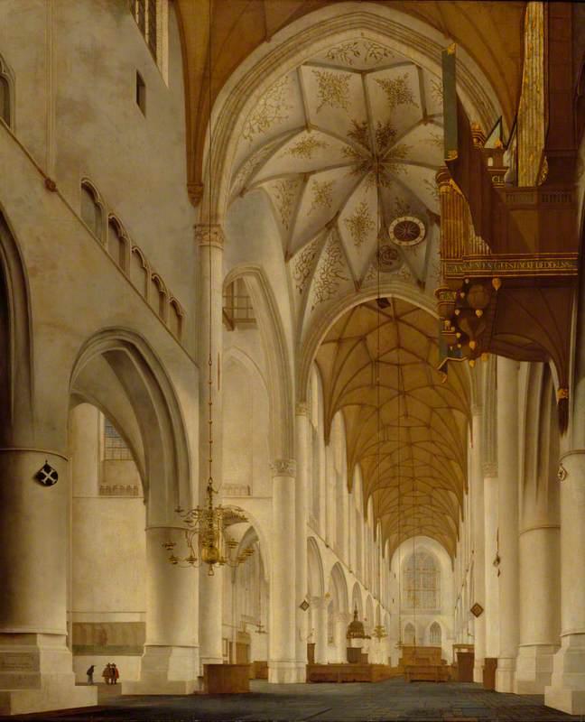 The Interior of St Bavo's Church, Haarlem (The 'Grote Kerk')