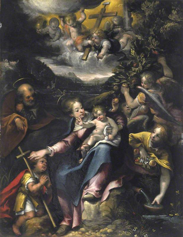 The Holy Family with the Infant Saint John the Baptist in a Landscape