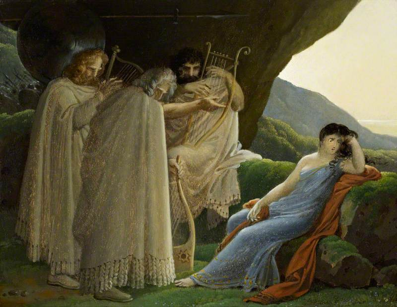 Malvina Mourning the Death of her Fiancé Oscar