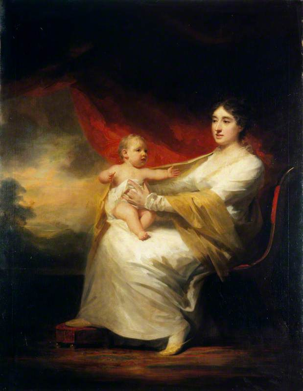 Charlotte Hall (1812–1894), Lady Hume Campbell of Marchmont, and her Son, Sir Hugh Hume Campbell, 7th Baronet of Marchmont