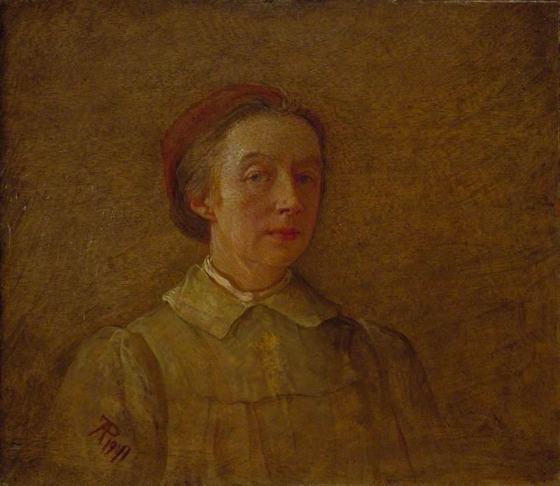 Phoebe Anna Traquair (1852–1936), Artist, Self Portrait