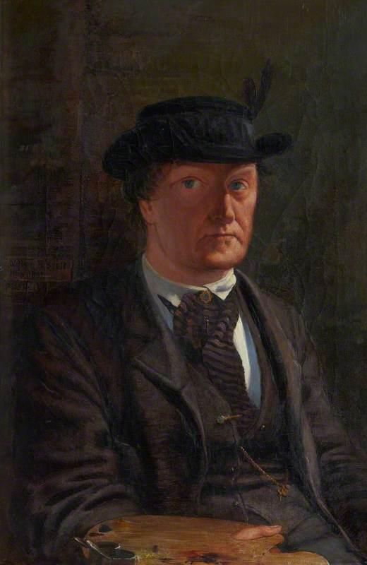 William Bell Scott (1811–1890), Poet and Artist, Self Portrait