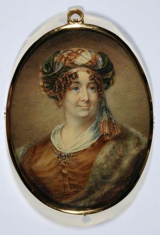 Sarah Biffin (1784–1850), Mrs E. M. Wright, Artist (Self-Portrait)