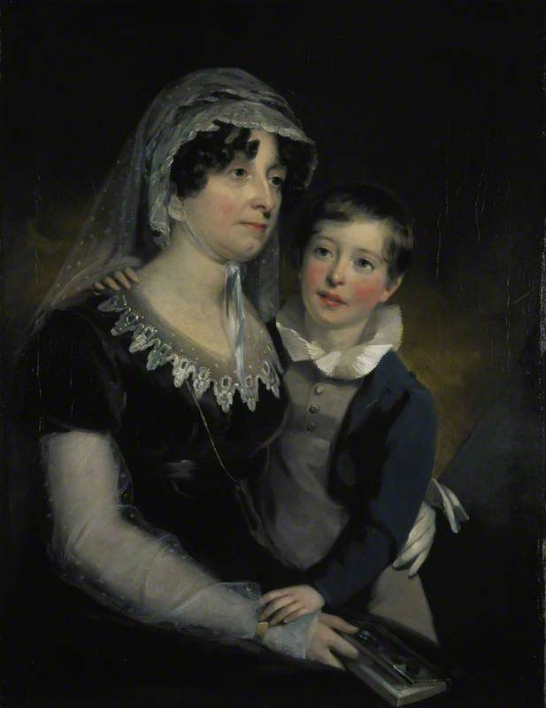 Carolina Oliphant (1766–1845), Lady Nairne, Songwriter, with her Son William Murray Nairne (1808–1837), Later 6th Lord Nairne