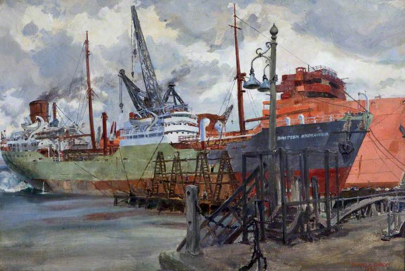Tanker 'British Explorer', Basin Trials