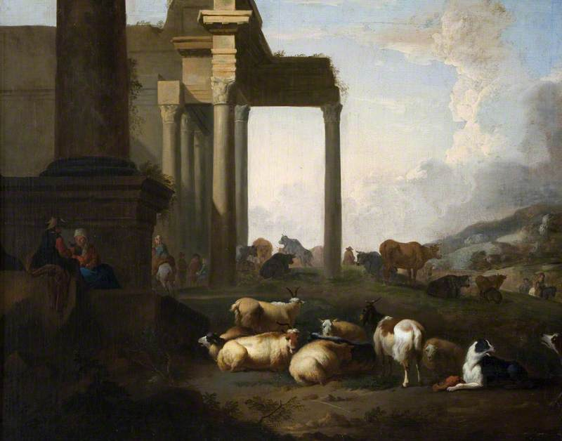 Shepherds and Flocks among Classical Ruins