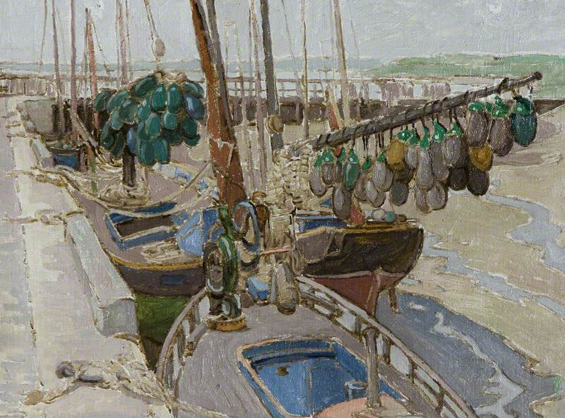 Harbour Scene with Floats