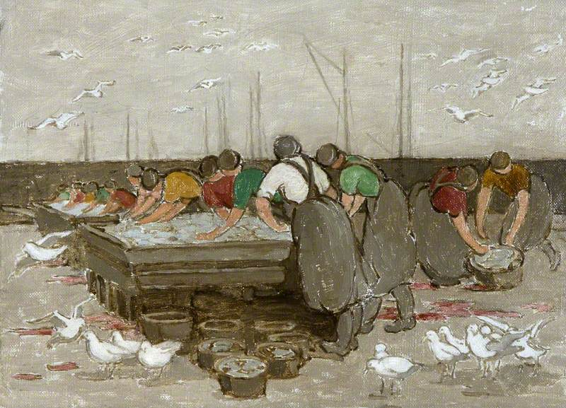 Study for 'Girls and Gulls at Ardglass'