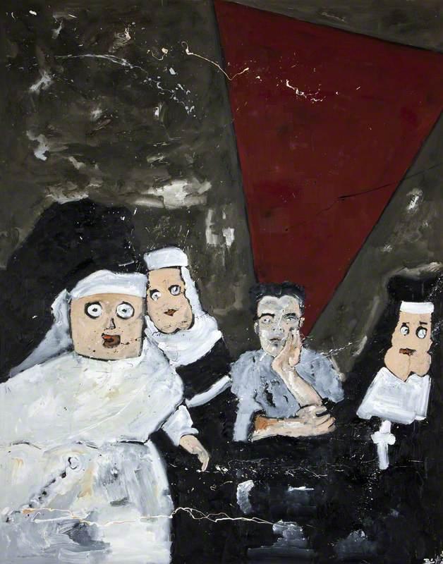 Self Portrait with Nun Dolls
