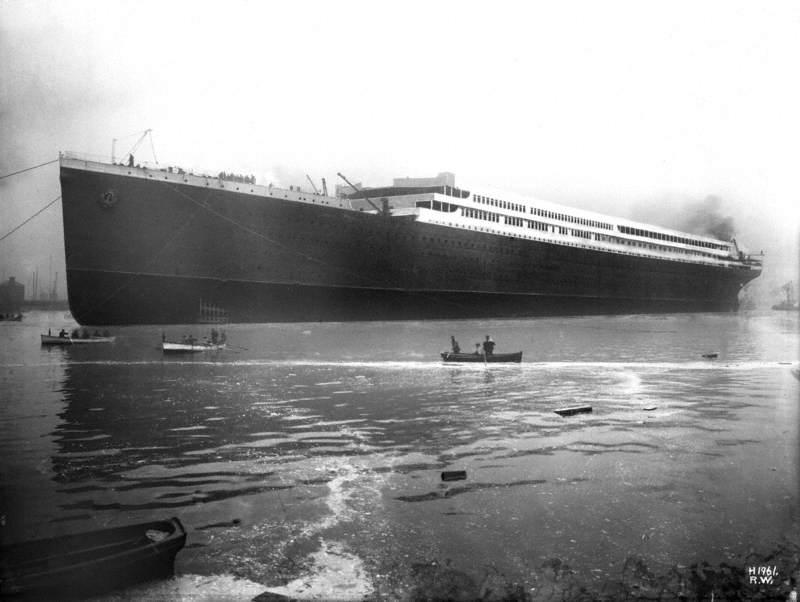Vessel afloat after launch