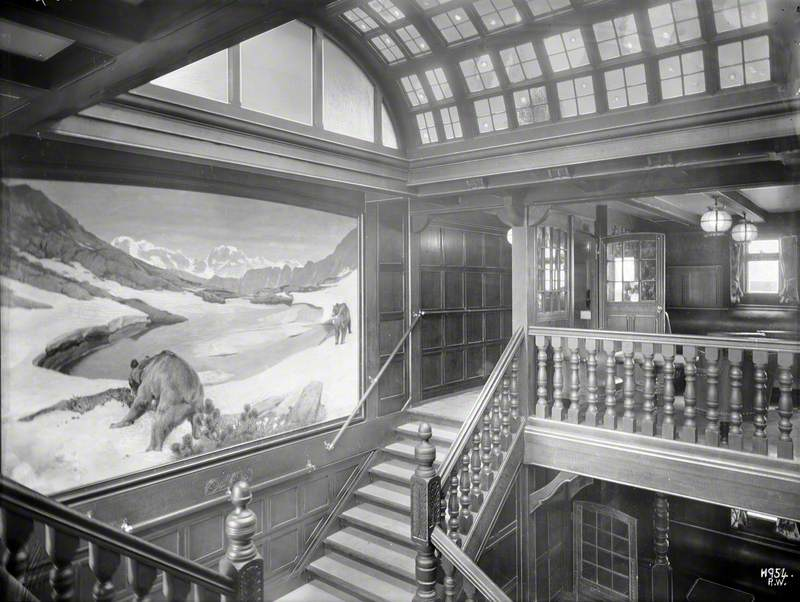 Staircase leading to first class smoke room