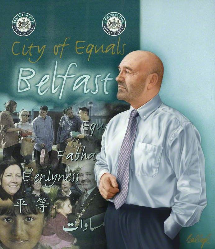 Alex Maskey, The Right Honorable, The Lord Mayor of Belfast (2002–2003)
