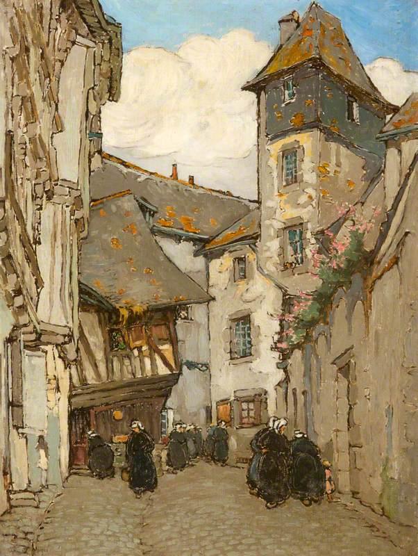 Street Scene, Belgium