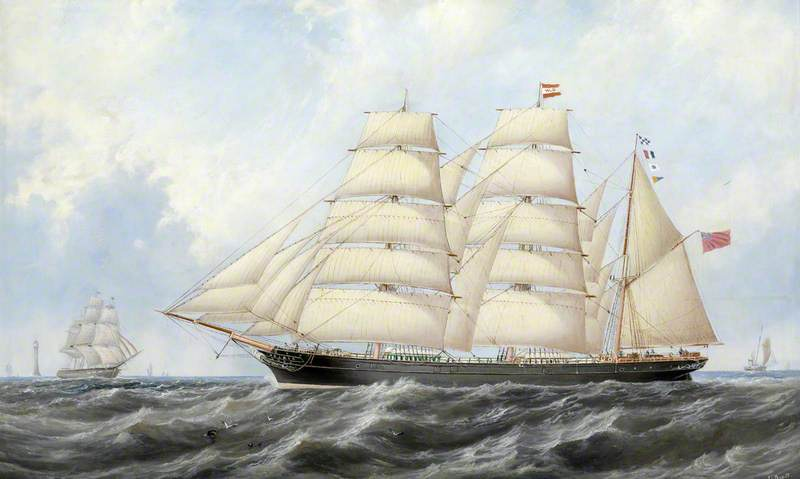 The Barque 'Aglaia' on Passage under Full Sail