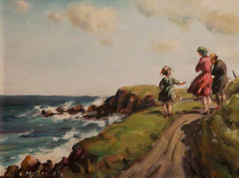 Three Figures on Headland