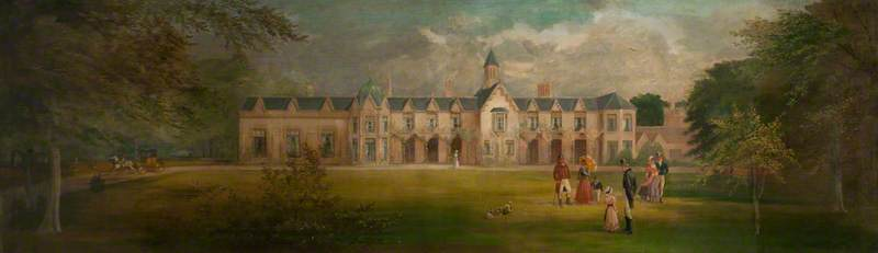 Mansion of Lord Donegall, Ormeau, 1840
