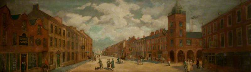 High Street and Old Market House, 1786