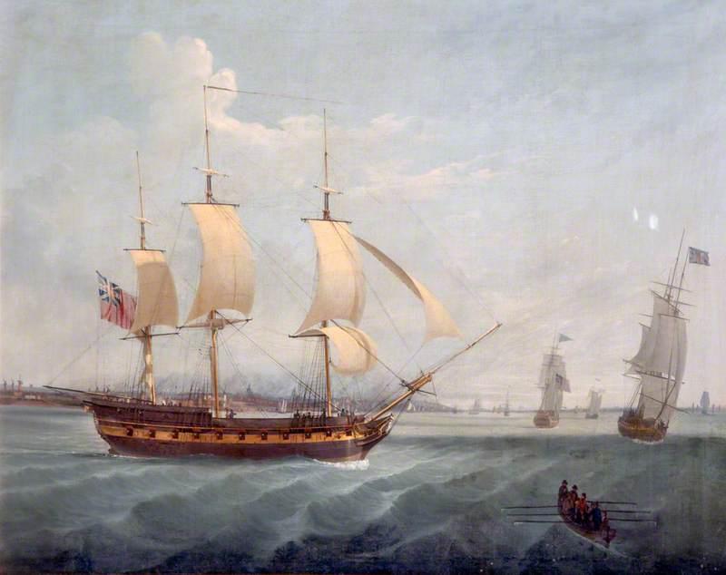 28-Gun Ship in the Mersey
