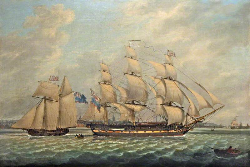 Frigate and a Sloop in the Mersey