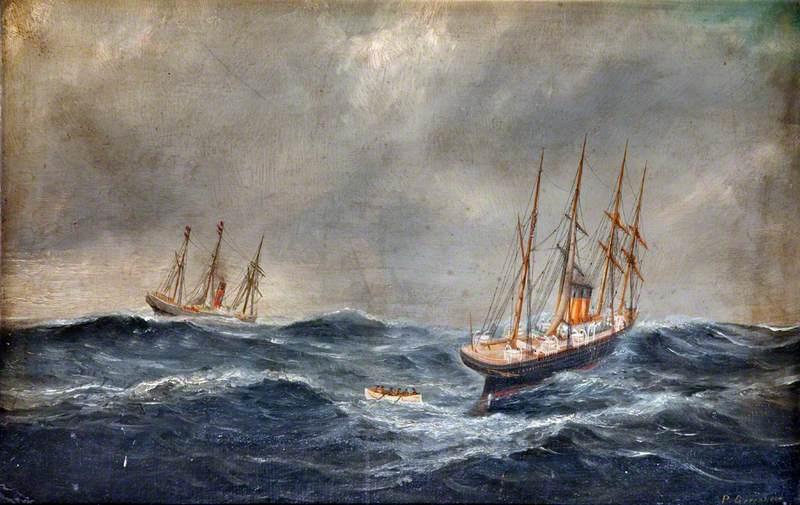 'Germanic' Rescuing the Crew of 'Hurworth', 1881