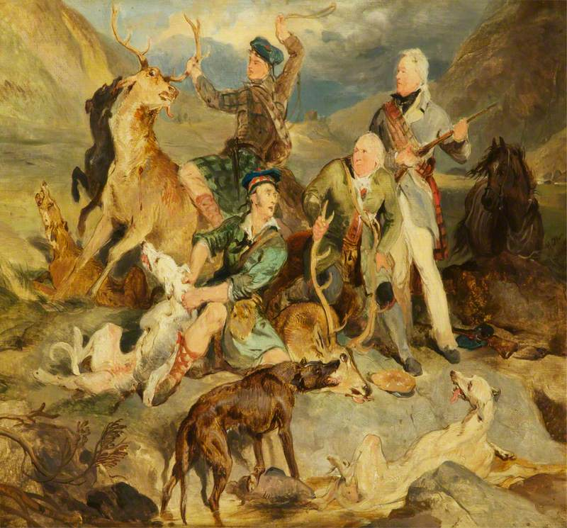 Taking the Deer: The Duke of Atholl with Foresters