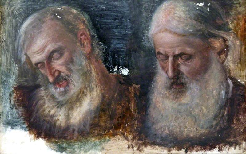 Two Studies of Jews' Heads for 'Christians and Christians'