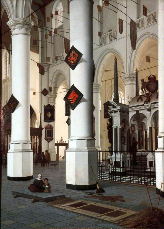Interior of the New Church at Delft, with the Tomb of William the Silent