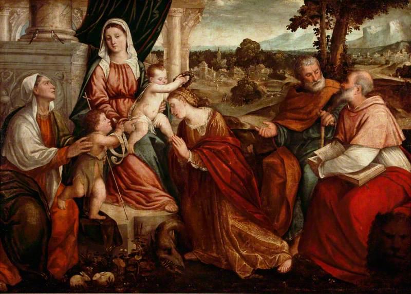 Virgin and Child with Saints Elizabeth, John the Baptist, Margaret, Anthony Abbot and Jerome