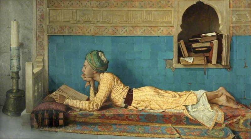A Young Emir Studying