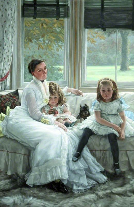 Catherine Smith Gill (d.1916), and Two of Her Children