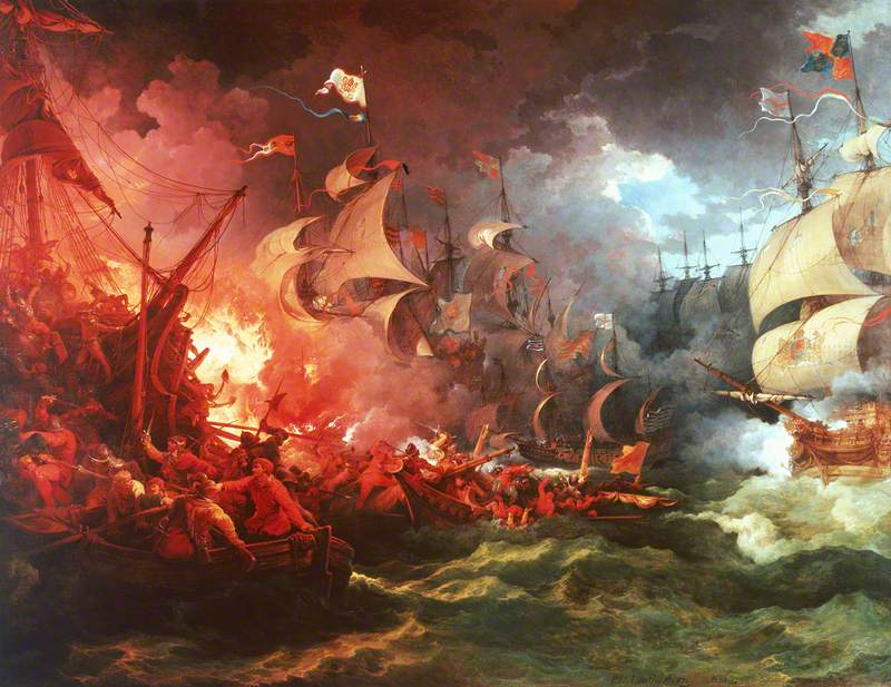 Defeat of the Spanish Armada, 8 August 1588