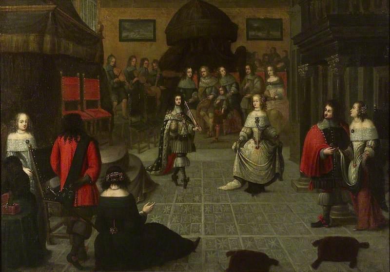 Charles II Dancing at The Hague, May 1660 (?)