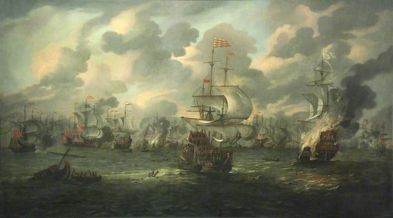 The Four Days' Battle: the Burning of HMS 'Royal Prince', 3 June 1666