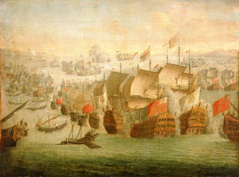 The Battle of Malaga, 13 August 1704