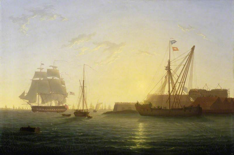 HMS 'Clyde' Arriving at Sheerness after the Nore Mutiny, 30 May 1797