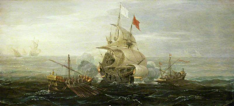 A French Ship and Barbary Pirates
