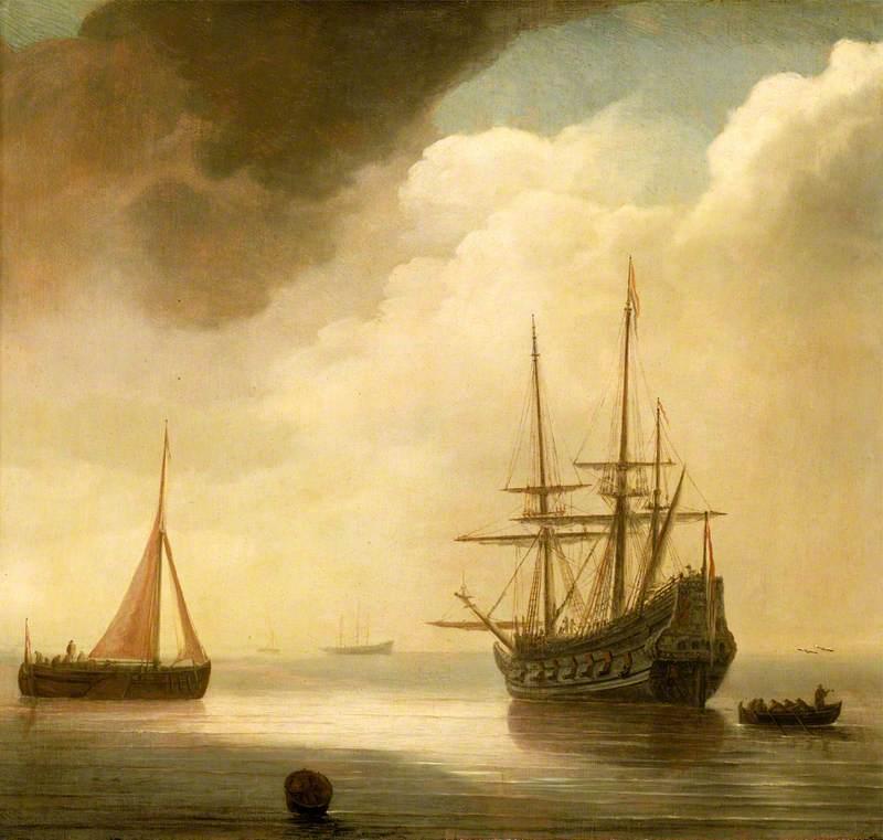 A Ship in a Calm Sea