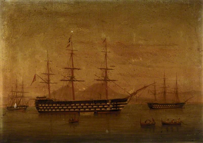A Three-Decker at Naples, 1866