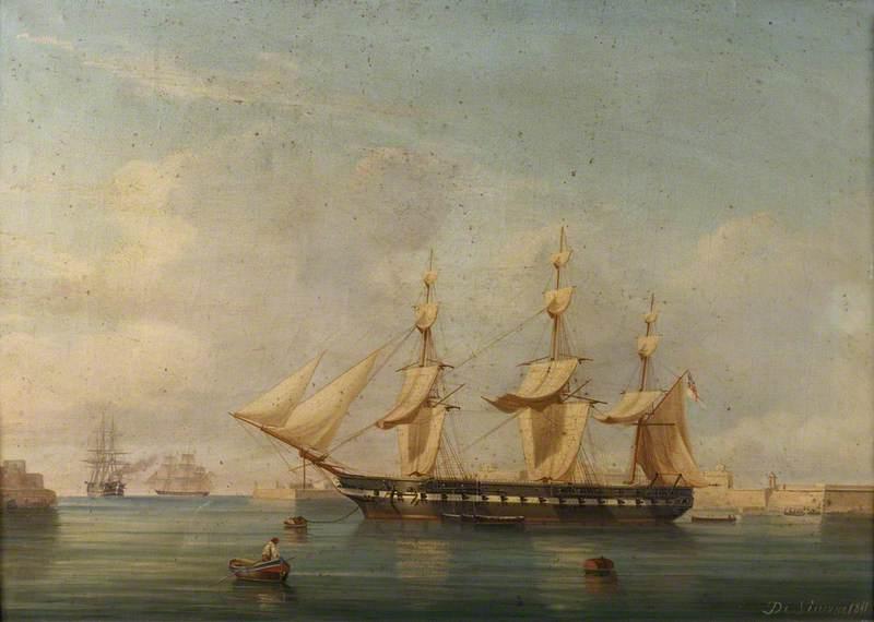 A Frigate at Malta