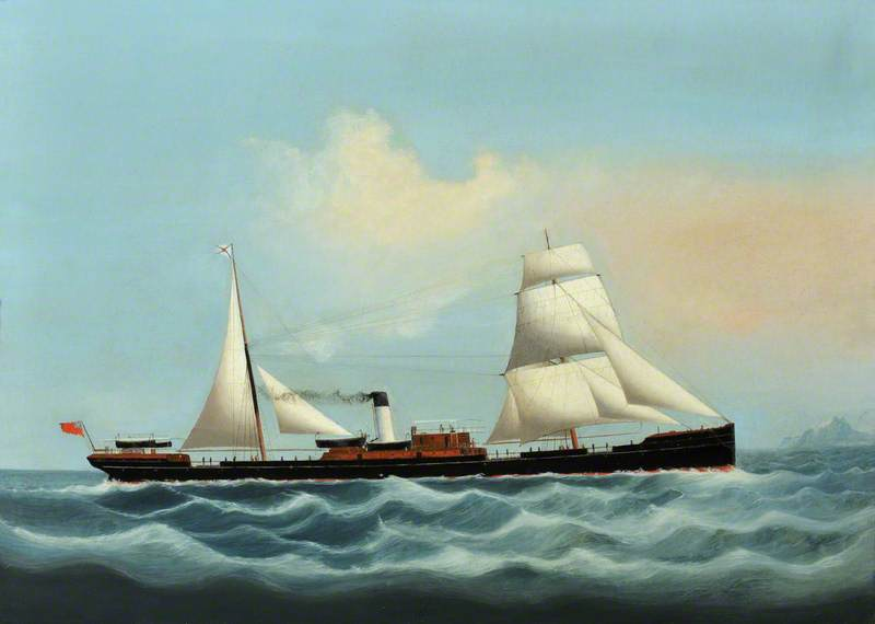 A British Merchant Steamship in the China Seas