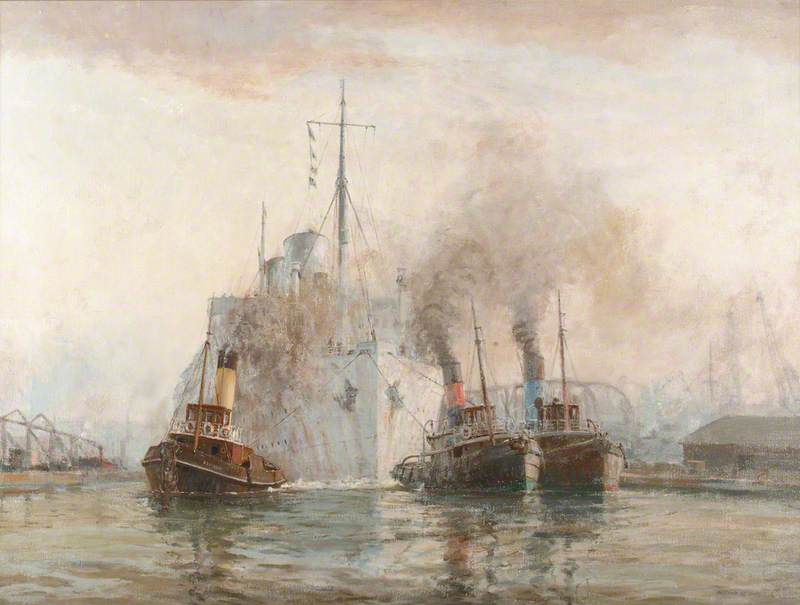 The 'Rangitata' and Three London Tugs