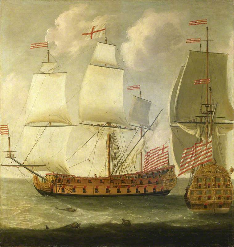 Two Views of an East Indiaman of the Time of William III