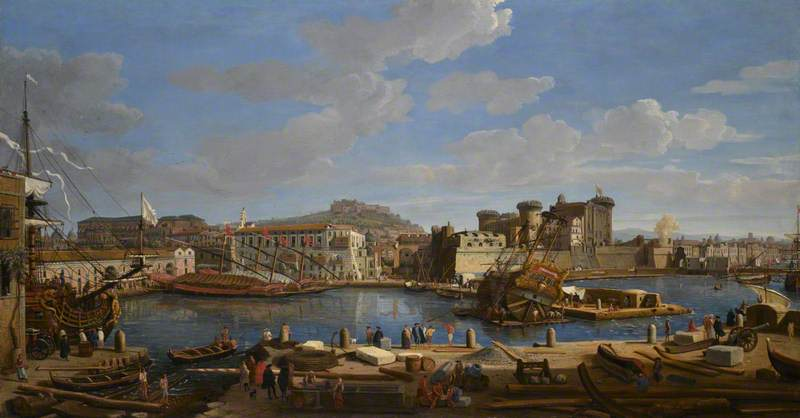 The Darsena delle Galere and Castello Nuovo at Naples