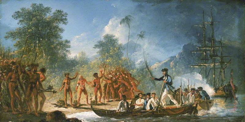 The Landing at Tanna (Tana), One of the New Hebrides