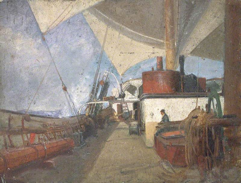 Deck Scene on the 'Iquique'