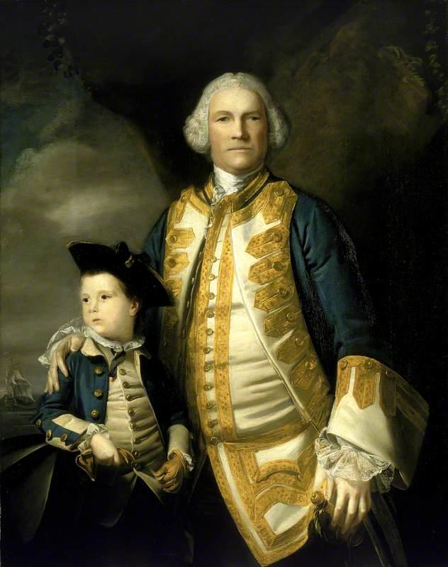 Admiral Francis Holburne (1704–1771), and his Son, Sir Francis (1752–1820), 4th Baronet