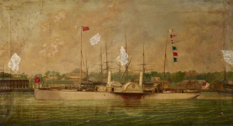 The Paddle Steamer 'Ella'