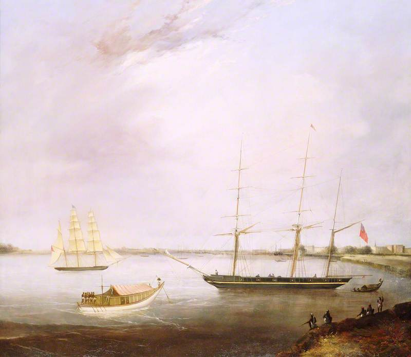 The 'Streatham' and the Opium Clipper 'Red Rover'